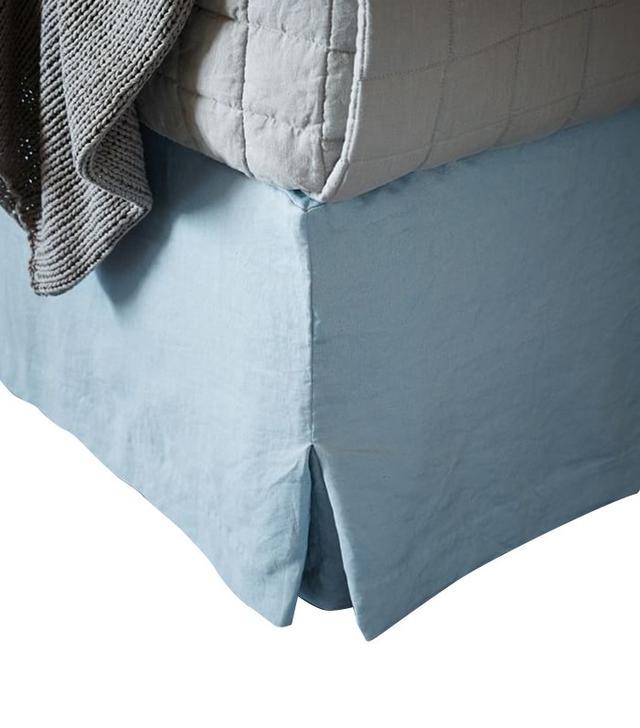 West Elm Belgian Flax Linen Bed Skirt