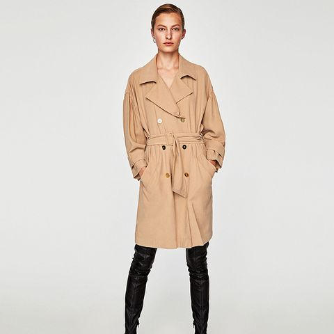 Oversized Trench Dress