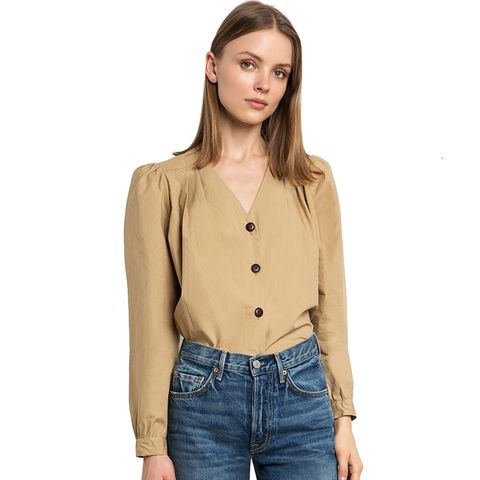 Emma Tan Button Shirt