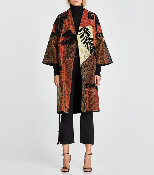 Zara Patchwork Coat
