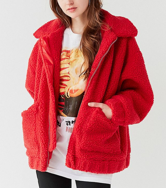 I.Am.Gia Pixie Red Teddy Coat