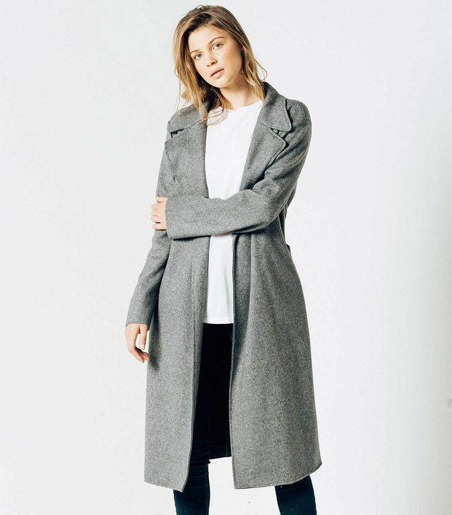 DSTLD Wool Blanket Maxi Coat