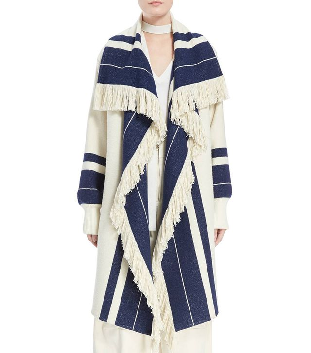 Chloé Stripe Blanket Coat