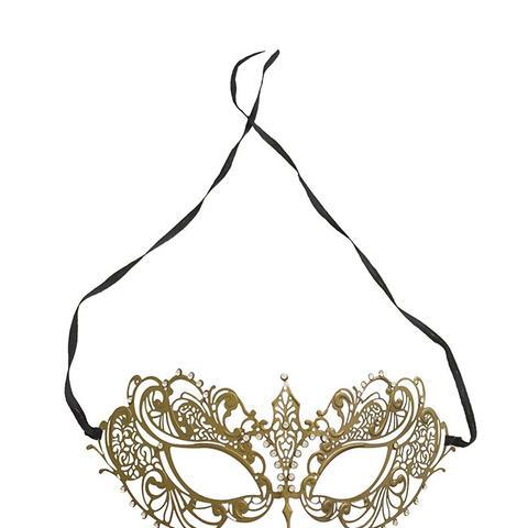 Women's Laser Cut Metal Venetian Pretty Masquerade Mask
