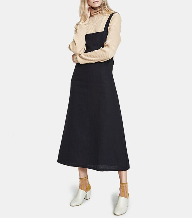 Duffy Overall Dress in Black
