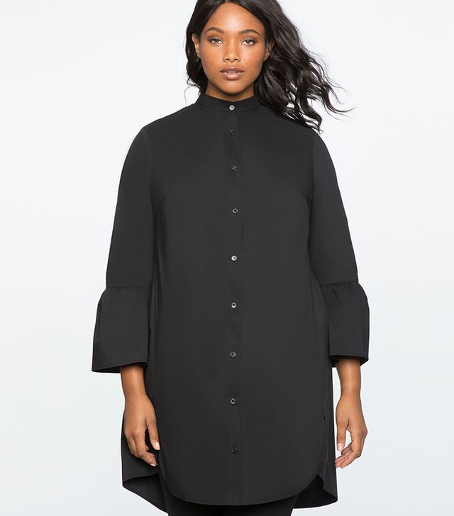 Eloquii Shirt Dress With Flare Sleeves