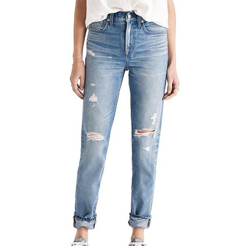 Perfect Vintage Ripped High Waist Boyfriend Jeans