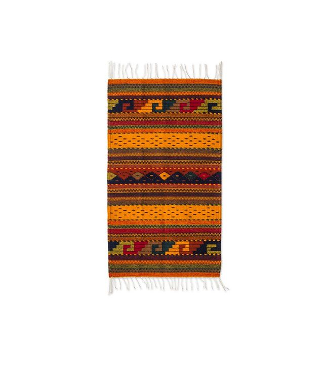 Novica Zapotec Wool Striped Area Rug