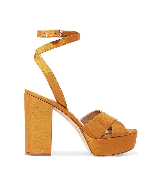 Mara Dupion Platform Sandals