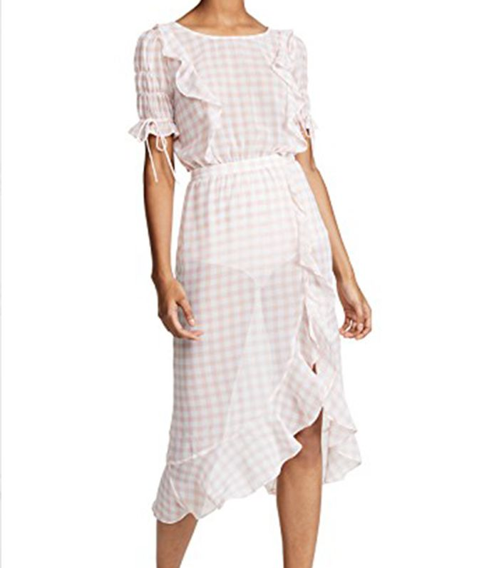 Dorothy Ruffle Midi Dress