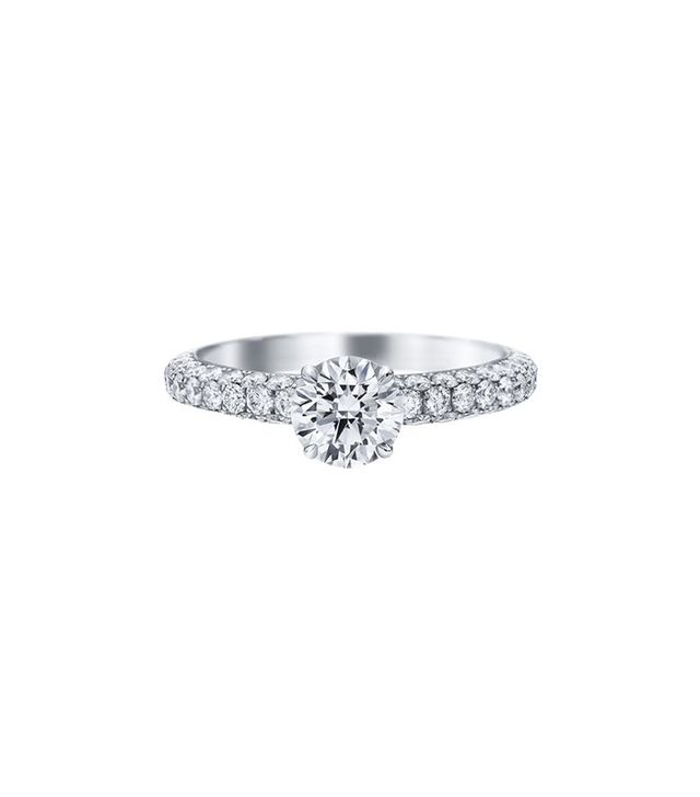 harry winston attraction by harry winston round brilliant diamond engagement ring - How Much Should You Spend On A Wedding Ring