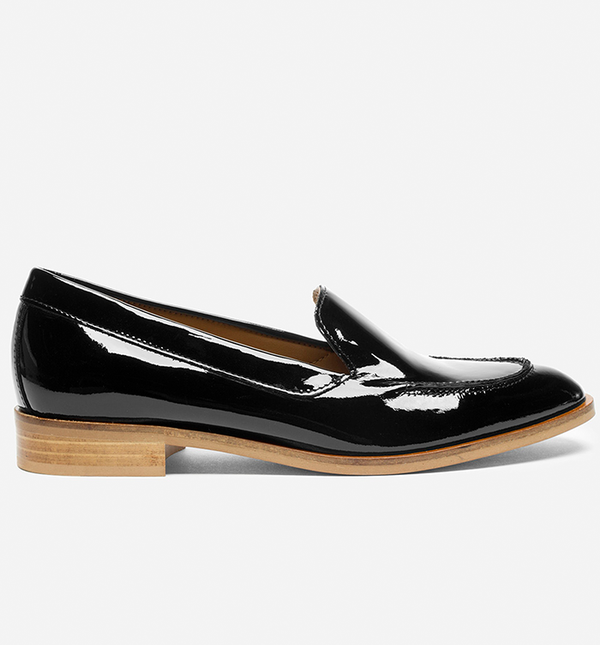 Women's Patent Leather Loafers by Everlane in Black, Size 10.5