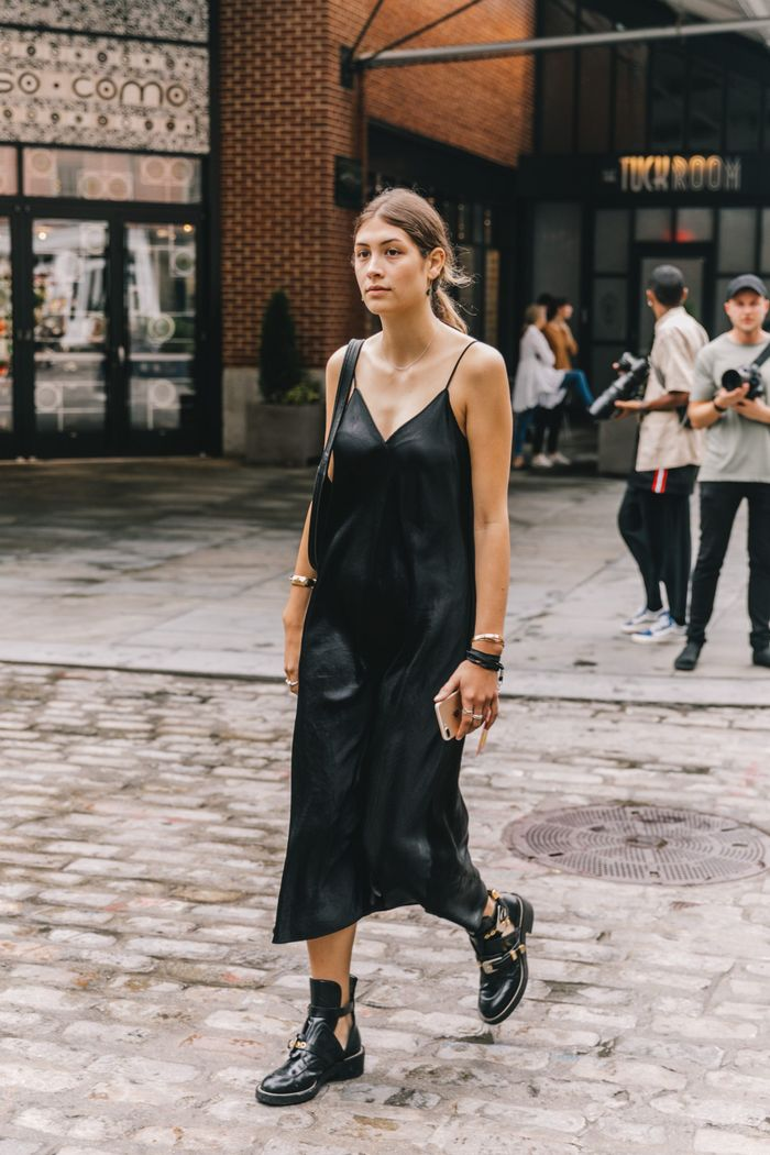 7 Chic Ways To Pair Dresses With Ankle Boots Who What Wear