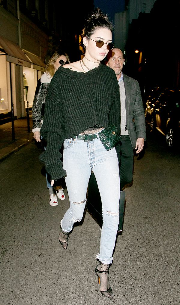 Kendall Jenner cropped sweater