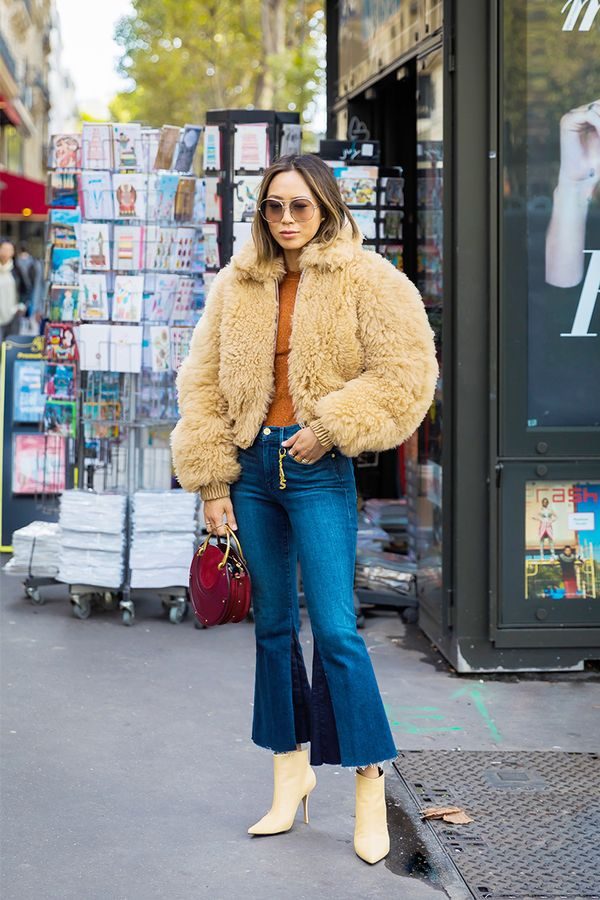 Cropped flare jeans are essentially a showcase for your cute ankle boots.