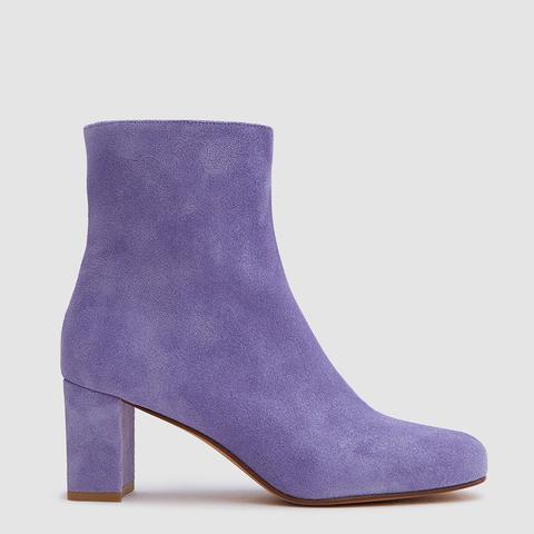 Agnes Boots in Iris Suede