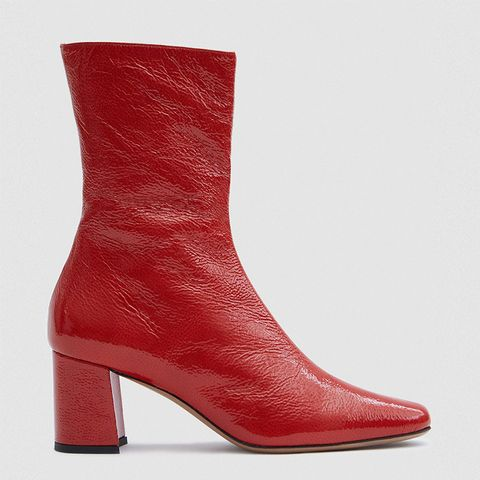 Mira Crinkle Patent Boots