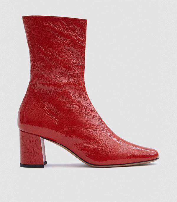 Mira Crinkle Patent Boot