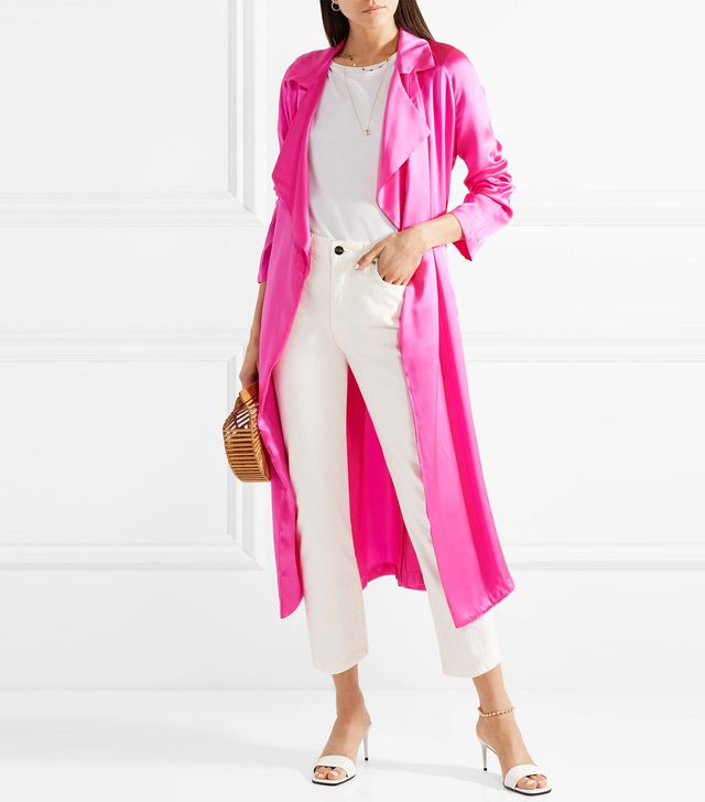 Tallulah Silk-charmeuse Trench Coat