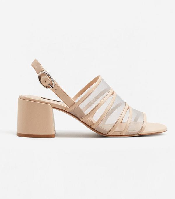 See-through straps sandals