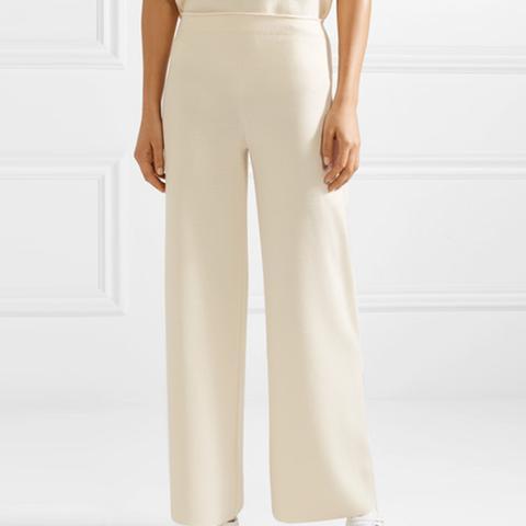 Milano Merino Wool Wide-leg Pants