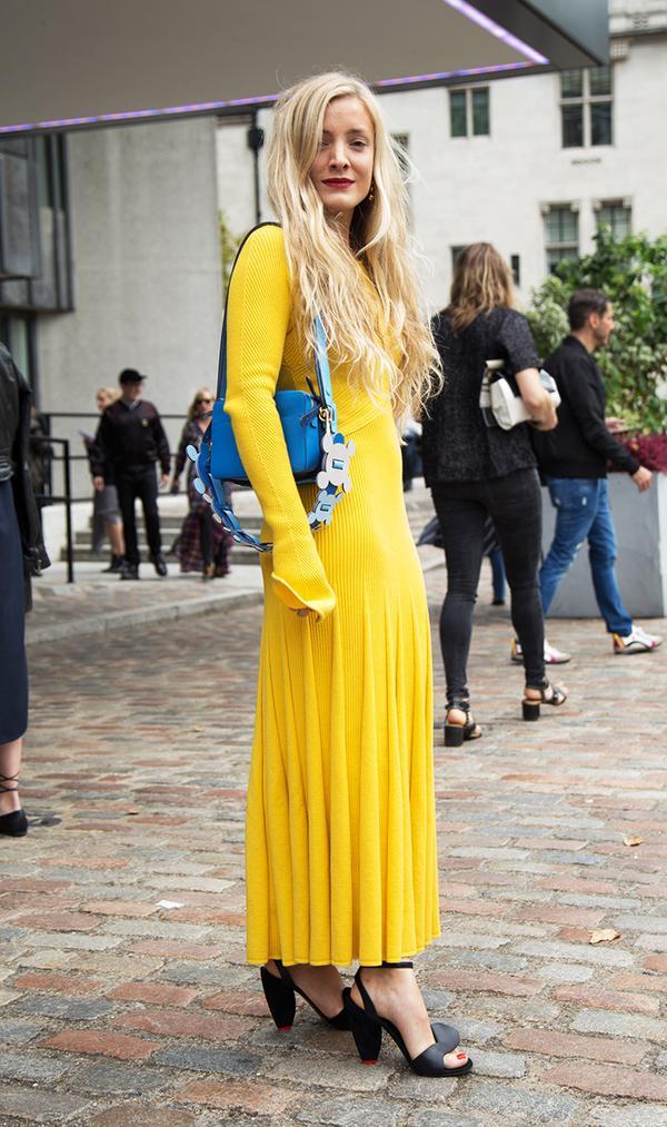 Kate Foley wearing yellow dress
