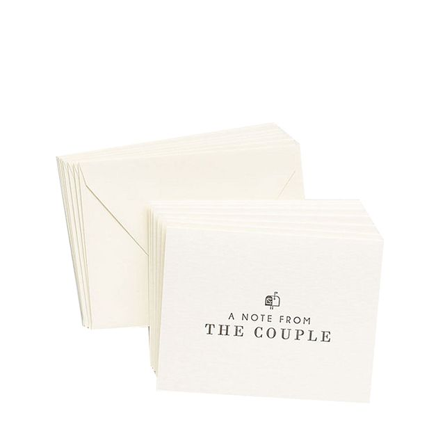A Note From the Couple Cards