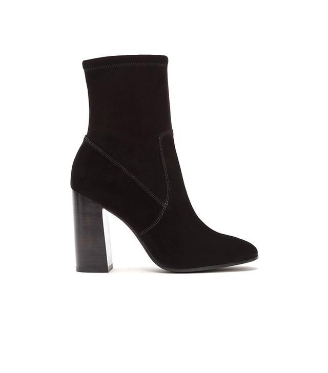 Frye Mina Stretch Short Boots In Black