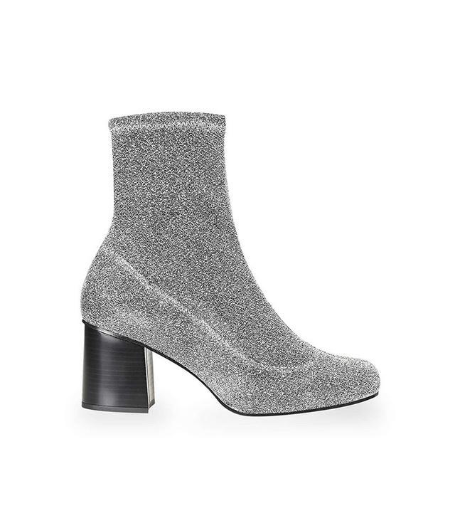 Topshop Martha Glitter Sock Boots