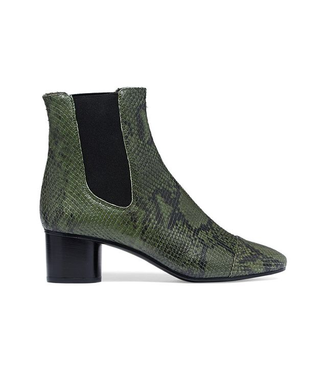 Isabel Marant Danae Python-Effect Leather Ankle Boots