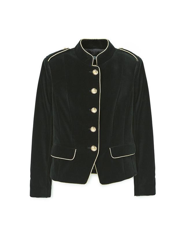 Mango Trims Velvet Jacket