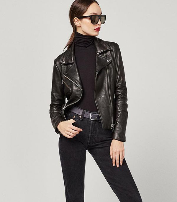 leather jacket styles - Reformation Bad Leather Jacket