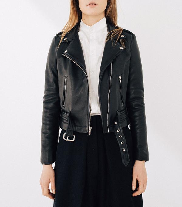 cool leather jackets - Laer Shrunken Moto