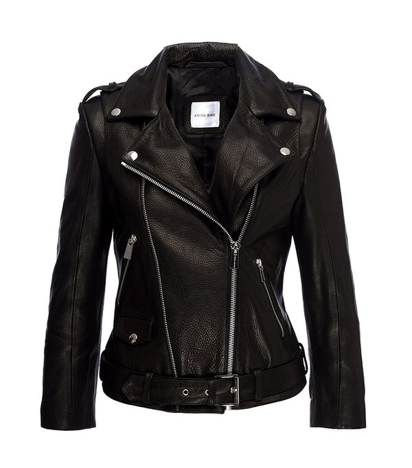 cool leather jackets - Anine Bing Cropped Moto Jacket