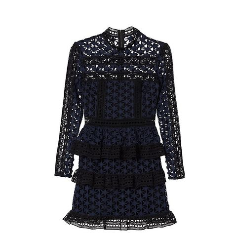 Star Lace Ruffled Dress