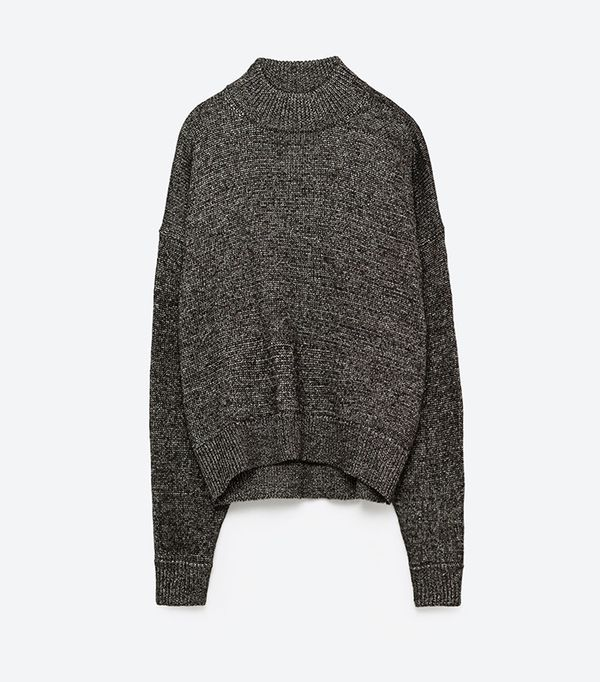 Zara Shiny High Neck Sweater