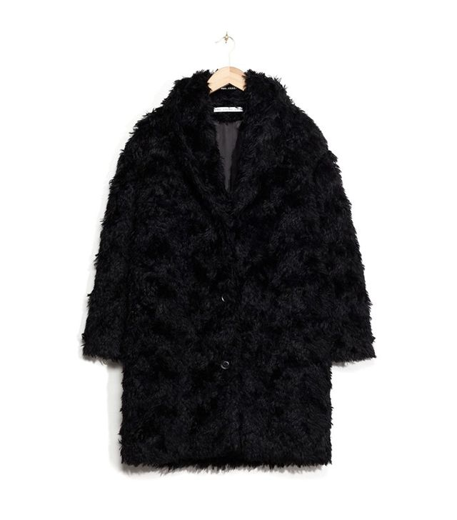 & Other Stories Mohair Blend Faux Fur Coat