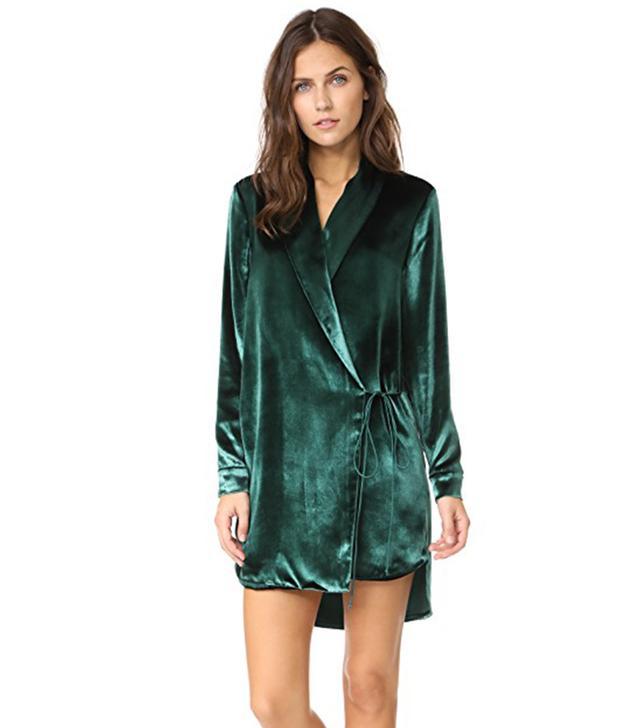 Velvet Wrap Jacket Dress