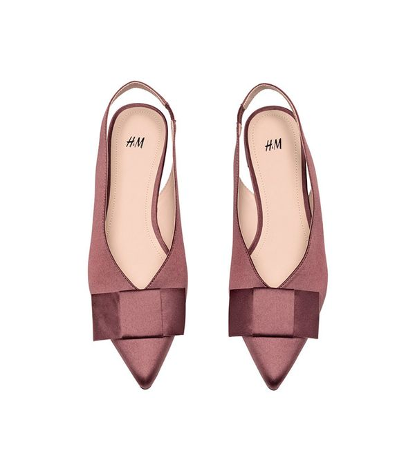 H&M Satin Slingbacks