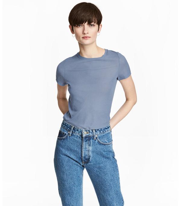 H&M Silk-Blend Top