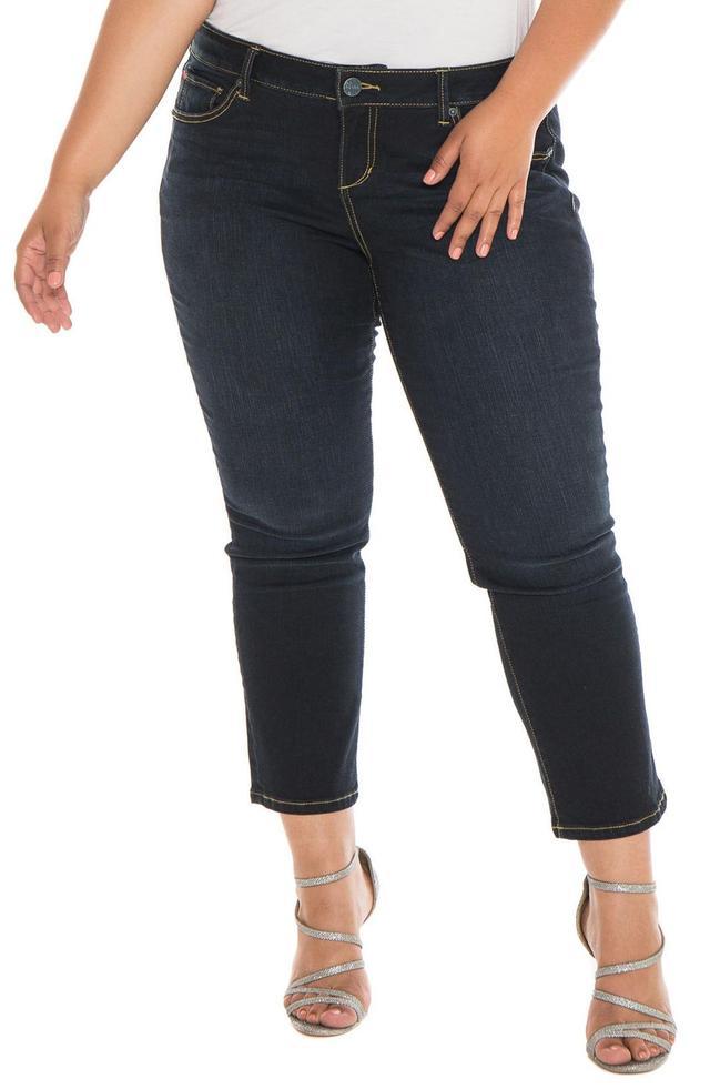 Plus Size Women's Slink Jeans Straight Leg Jeans