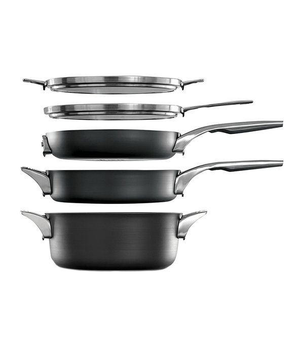 Premier 10-Pc. Space-Saving Hard Anodized Non-Stick Cookware Set, Created for Macy's