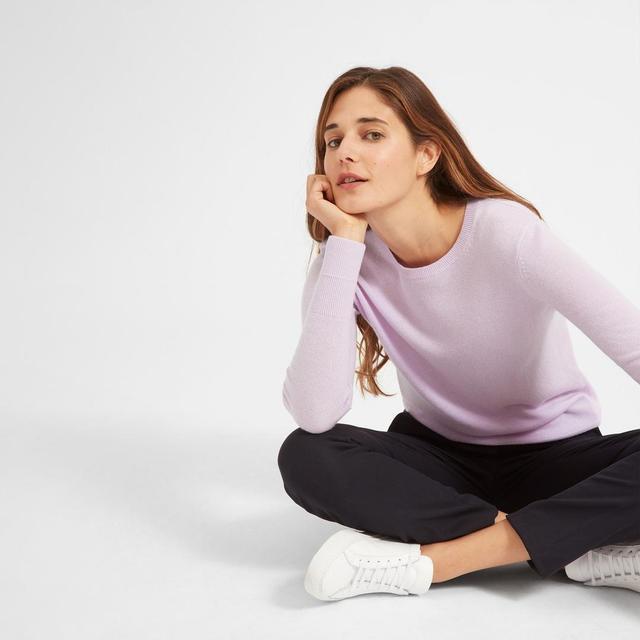 Everlane Cashmere Crew Sweater in Lavender