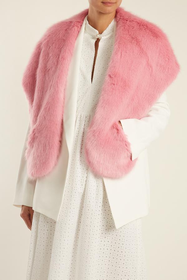 Ange faux-fur scarf