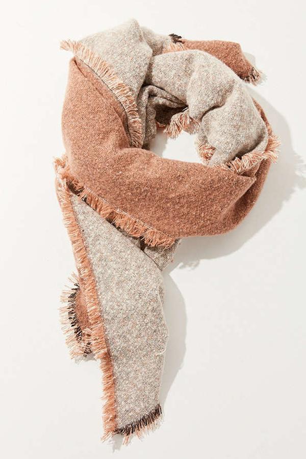 Cozy Intarsia Blanket Scarf