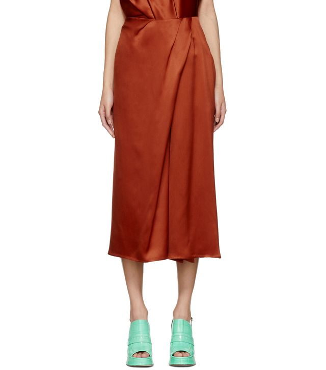 Sies Marjan Orange Mae Twist Skirt