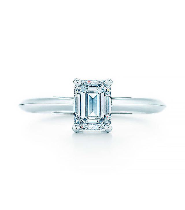 Tiffany & Co. 1 Carat Emerald Cut Engagement Ring