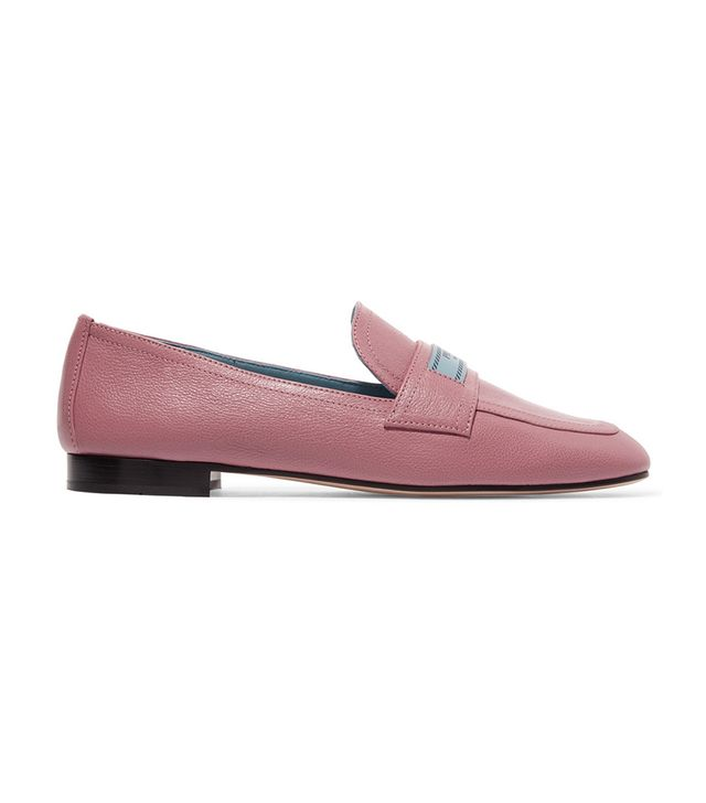 Textured-leather Loafers