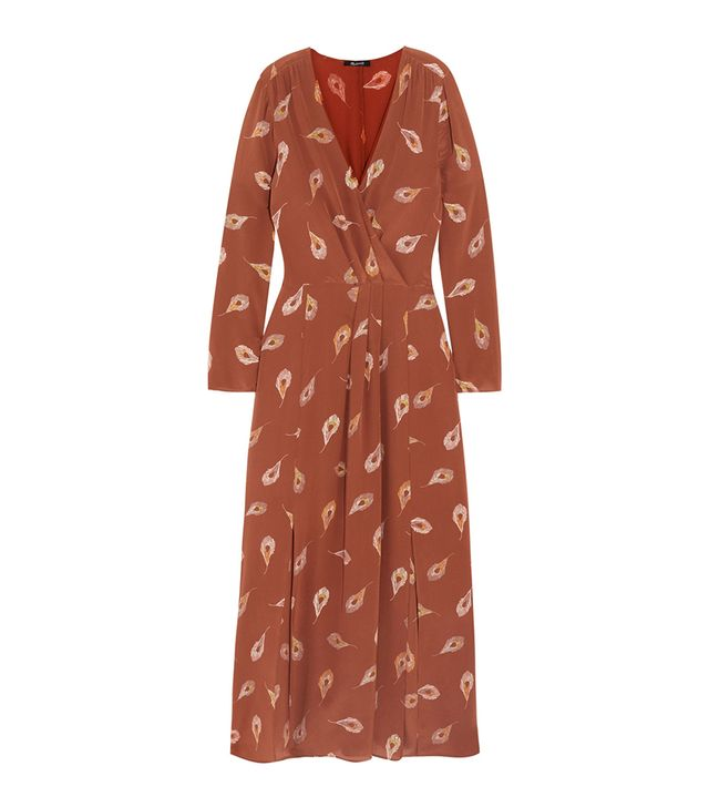 Night Flower Printed Silk Crepe De Chine Maxi Dress