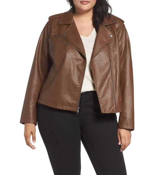 Plus Size Women's Levi's Faux Leather Jacket